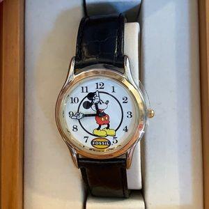 Vintage Disney World Fossil Mickey Watch